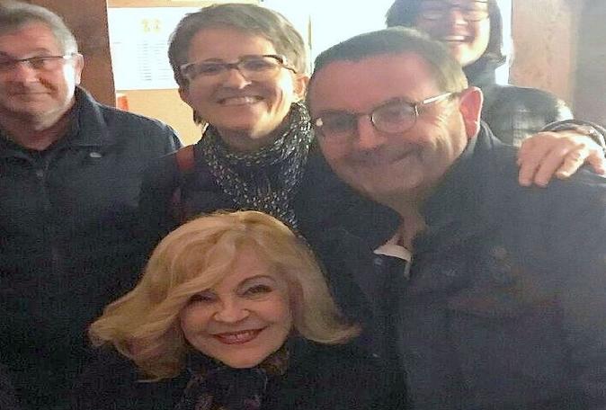Nicoletta avec Lydie et Fabrice à Tournus